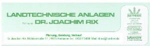 Dr. Joachim Rix Handelsvertretung Landwirtschaftlicher Maschinen